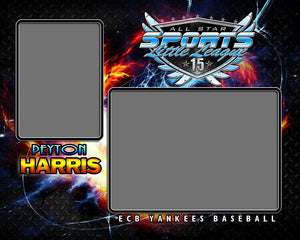 Fire & Ice v.3 - Memory Mate - H Downloadable Template Photo Solutions PSMGraphix