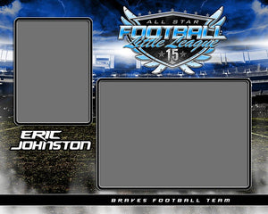 Football Night Game - Signature Series - Memory Mate - H Photoshop Template -  PSMGraphix