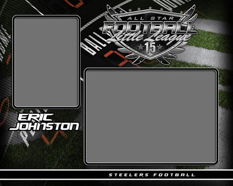 Football - v.SS - Memory Mate - H Photoshop Template -  PSMGraphix
