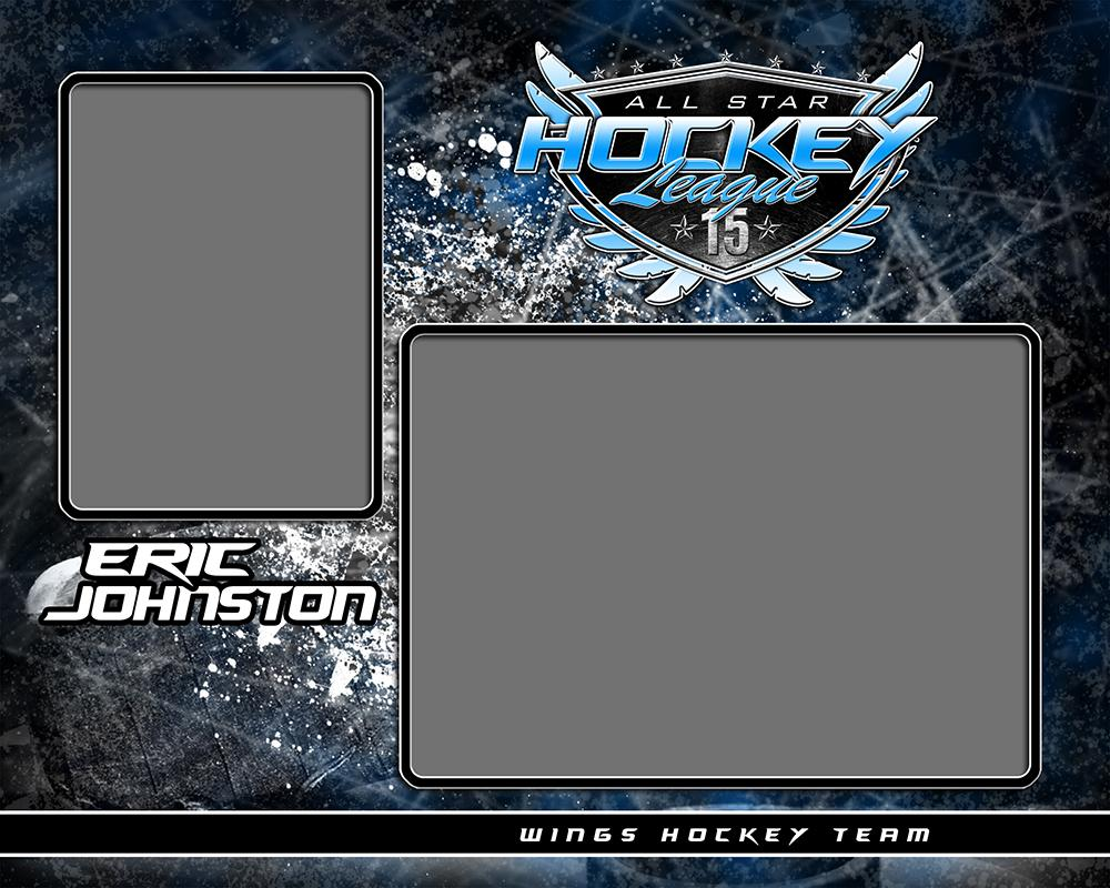 Hockey - v.SS - Memory Mate - H-Photoshop Template - Photo Solutions