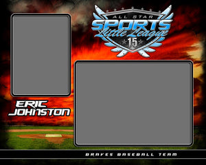Baseball Night Game v.5 - Memory Mate - H Photoshop Template -  PSMGraphix