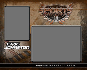 Old School Baseball v.7 - Memory Mate - H-Photoshop Template - Photo Solutions