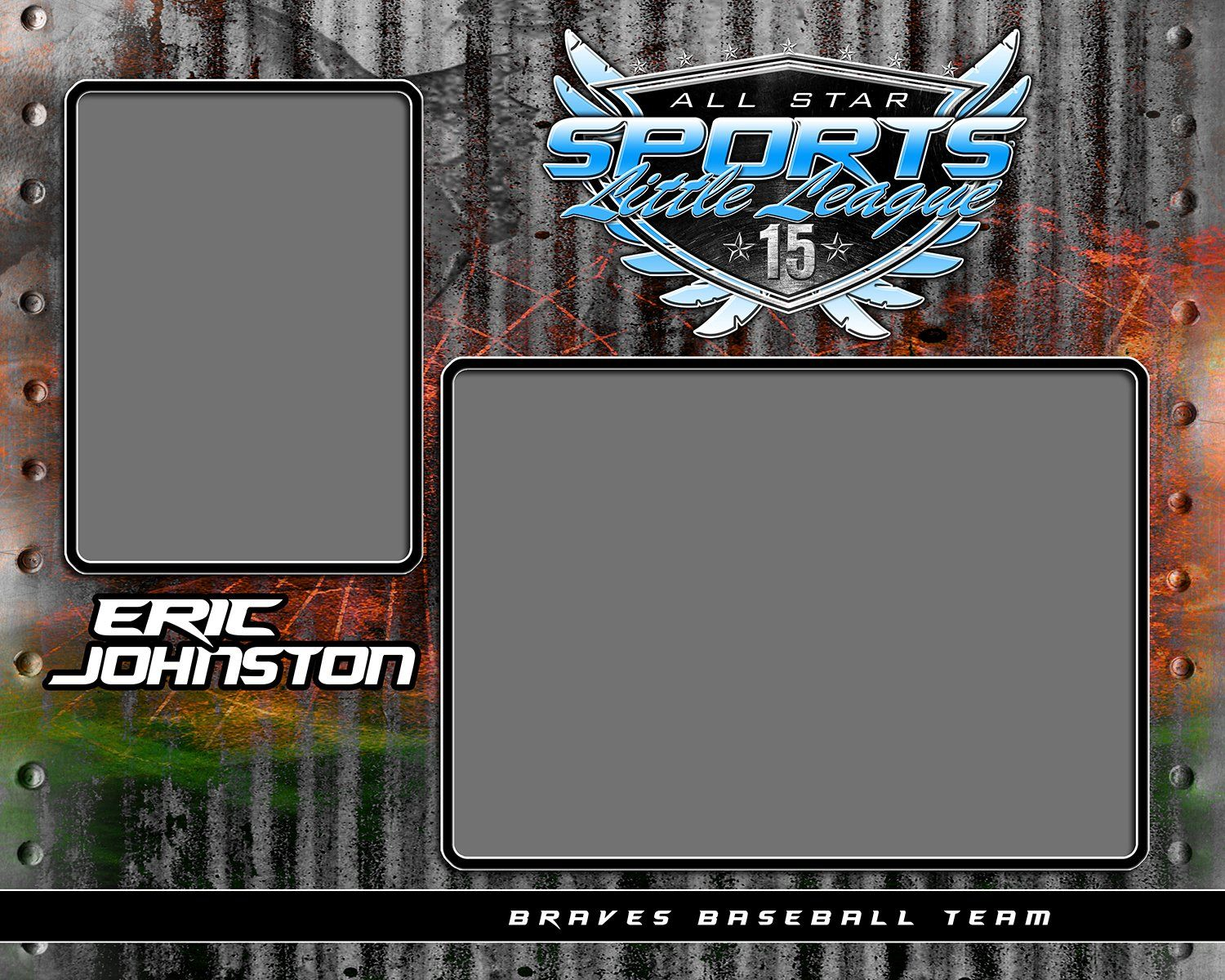 Steel Plate v.1 - Memory Mate - H-Photoshop Template - Photo Solutions