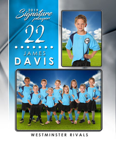 Signature Player - Soccer - V1 - Drop In Memory Mate V Template-Photoshop Template - Photo Solutions