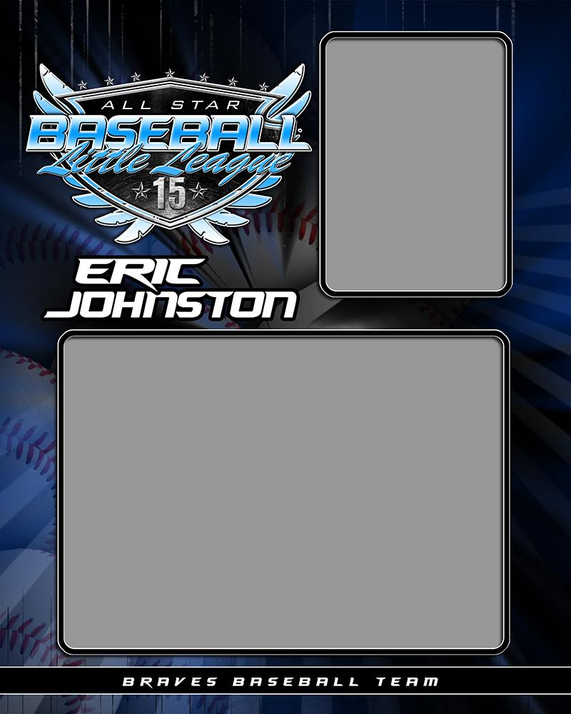 Baseball v.SS - Memory Mate - V Downloadable Template Photo Solutions PSMGraphix