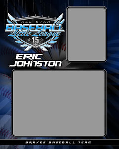 Baseball v.SS - Memory Mate - V Photoshop Template -  PSMGraphix
