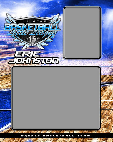 Basketball Night Game - Signature Series  - Memory Mate - V-Photoshop Template - Photo Solutions