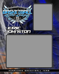 Basketball v.SS - Memory Mate - V Photoshop Template -  PSMGraphix
