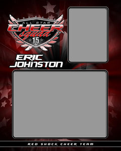 Cheerleading v.SS - Memory Mate - V Photoshop Template -  PSMGraphix