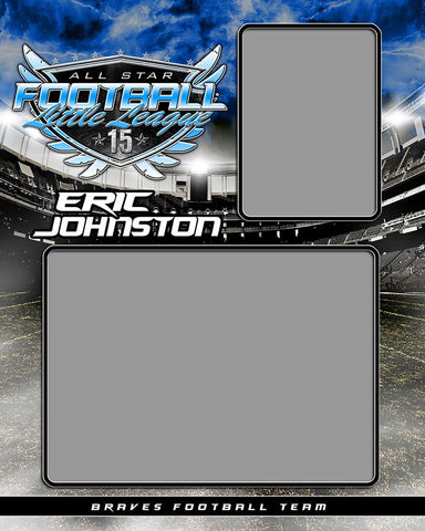 Football Night Game - Signature Series  - Memory Mate - V-Photoshop Template - Photo Solutions