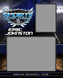 Full Court v.2 - Memory Mate - V-Photoshop Template - Photo Solutions