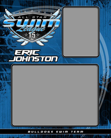 Swimming v.SS - Memory Mate - V Downloadable Template Photo Solutions PSMGraphix