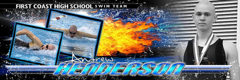 Swim - Multi Drop-In Panoramic Poster/Banner-Photoshop Template - Photo Solutions