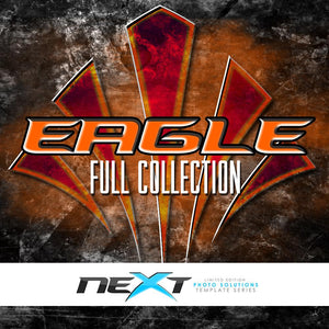 01 Full Set - EAGLE Collection Photoshop Template -  PSMGraphix