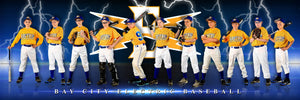 Electric v.2 - Team Panoramic Photoshop Template -  PSMGraphix