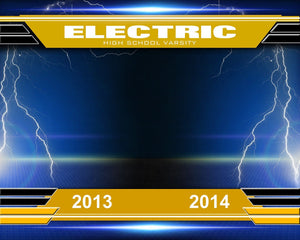 Electric v.2 - Xtreme Team Photoshop Template -  PSMGraphix