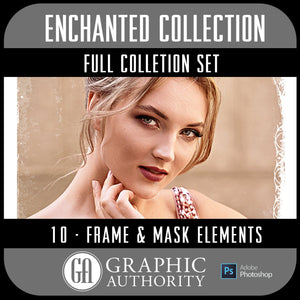 Enchanted Collection - Full Set- 10 Frames & Masks-Photoshop Template - Graphic Authority