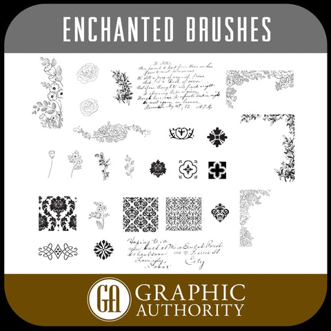 Enchanted Photoshop ABR Brushes-Photoshop Template - Graphic Authority