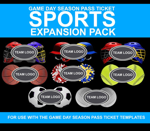 01 Game Day Ticket Multi-Sport Expansion Pack Photoshop Template -  PSMGraphix