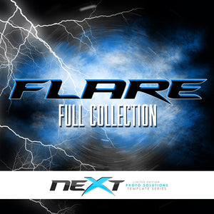 01 Full Set - FLARE Collection Downloadable Template Photo Solutions PSMGraphix