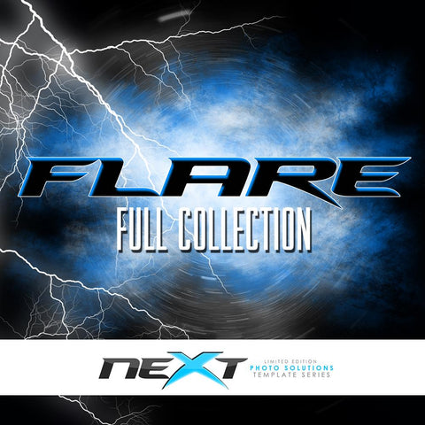 01 Full Set - FLARE Collection Photoshop Template -  PSMGraphix