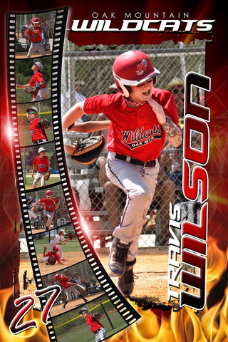 Burn - V1-2 - Film Strip Photoshop Poster Template Downloadable Template Photo Solutions PSMGraphix