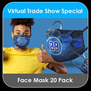 2021 Special - Face Masks - 20 PACK COLLECTION - Template Bundle-Photoshop Template - PSMGraphix