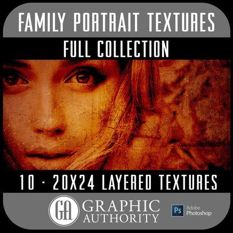 Family Portrait - 20x24 Layered Textures - Full Collection