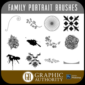 Family Portrait Photoshop ABR Brushes-Photoshop Template - Graphic Authority