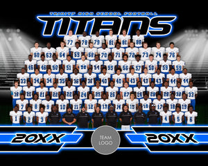 Friday Lights v.2-2 - Xtreme Team Photoshop Template Downloadable Template Photo Solutions PSMGraphix