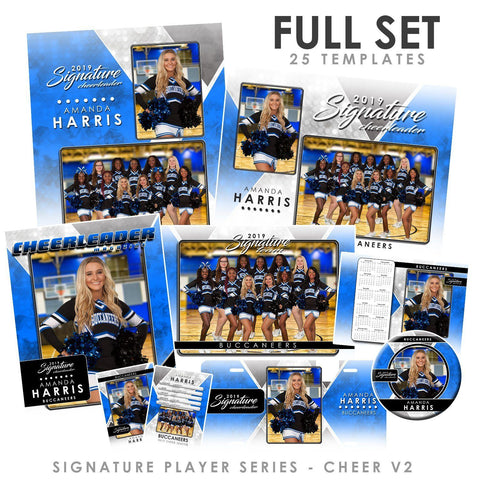 Signature Player - Cheer - V2 - T&I Drop-In Collection Downloadable Template Photo Solutions PSMGraphix