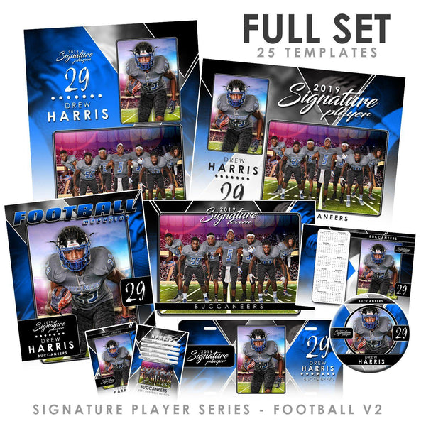 Signature Player - Football - V2 - T&I Drop-In Collection-Photoshop Template - Photo Solutions