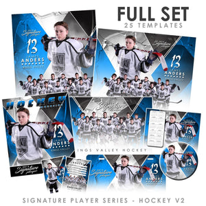 Signature Player - Hockey - V2 - T&I Extraction Collection Downloadable Template Photo Solutions PSMGraphix