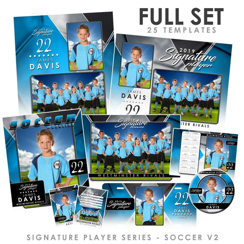 Signature Player - Soccer - V2 - T&I Drop-In Collection-Photoshop Template - Photo Solutions