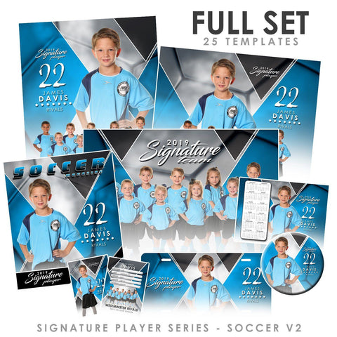 Signature Player - Soccer - V2 - T&I Extraction Collection Downloadable Template Photo Solutions PSMGraphix