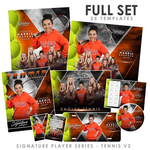 Signature Player - Tennis - V2 - T&I Extraction Collection Downloadable Template Photo Solutions PSMGraphix