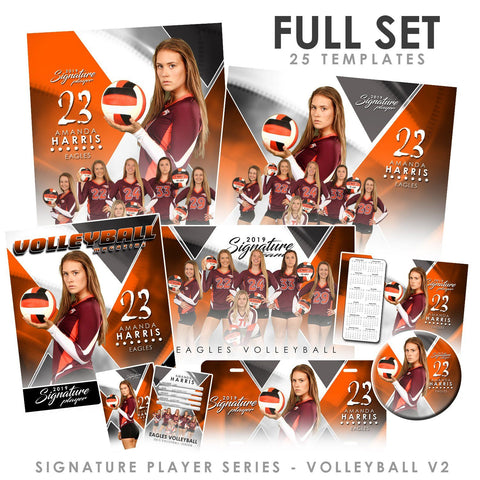 Signature Player - Volleyball - V2 - T&I Extraction Collection Downloadable Template Photo Solutions PSMGraphix