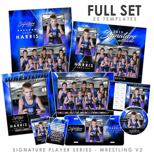 Signature Player - Wrestling - V2 - T&I Drop-In Collection-Photoshop Template - Photo Solutions