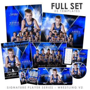 Signature Player - Wrestling - V2 - T&I Extraction Collection Photoshop Template -  PSMGraphix