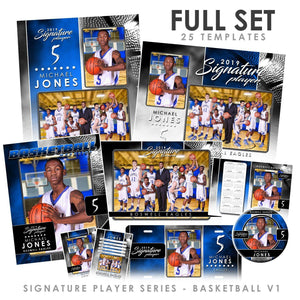 Signature Player - Basketball - V1 - T&I Drop-In Collection-Photoshop Template - Photo Solutions