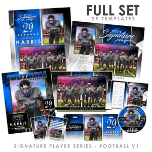 Signature Player - Football - V1 - T&I Drop-In Collection-Photoshop Template - Photo Solutions