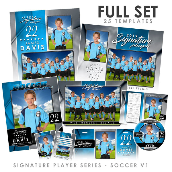 Signature Player - Soccer - V1 - T&I Drop-In Collection-Photoshop Template - Photo Solutions