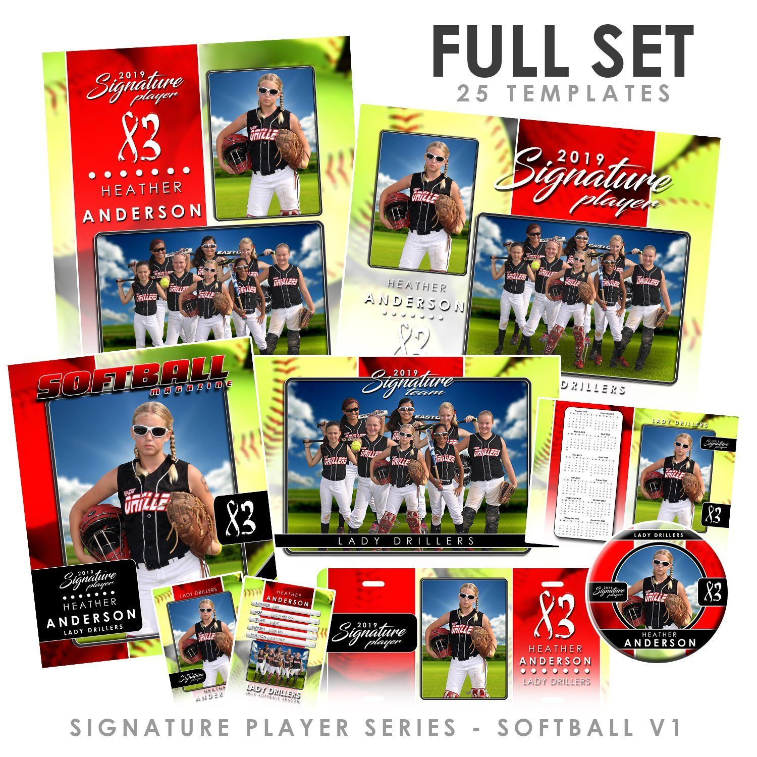 Signature Player - Softball - V1 - T&I Drop-In Collection
