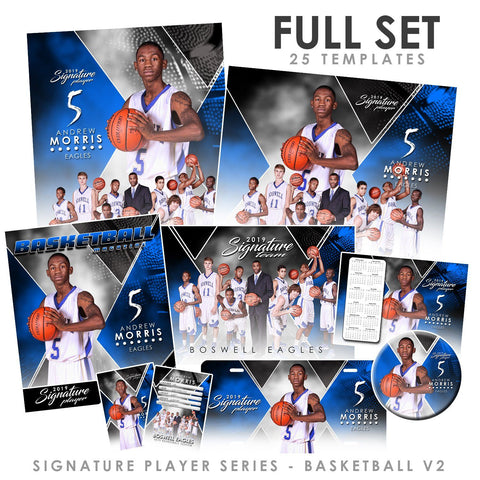 Signature Player - Basketball - V2 - T&I Extraction Collection Downloadable Template Photo Solutions PSMGraphix