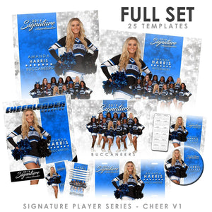 Signature Player - Cheer - V1 - T&I Extraction Collection Downloadable Template Photo Solutions PSMGraphix