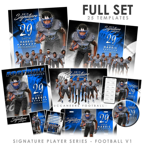 Signature Player - Football - V1 - T&I Extraction Collection Downloadable Template Photo Solutions PSMGraphix