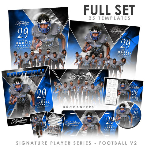 Signature Player - Football - V2 - T&I Extraction Collection-Photoshop Template - Photo Solutions