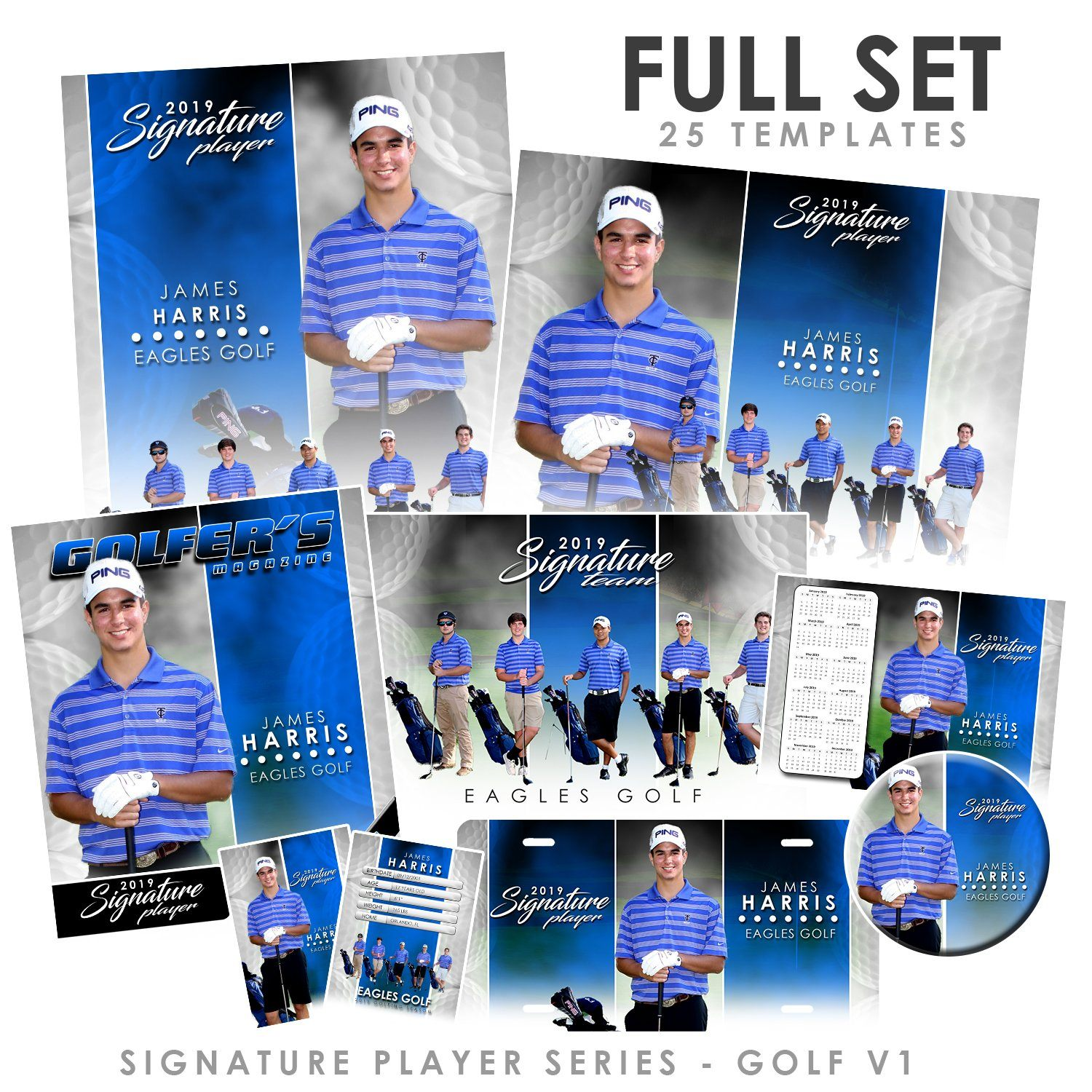 Signature Player - Golf - V1 - T&I Extraction Collection-Photoshop Template - Photo Solutions