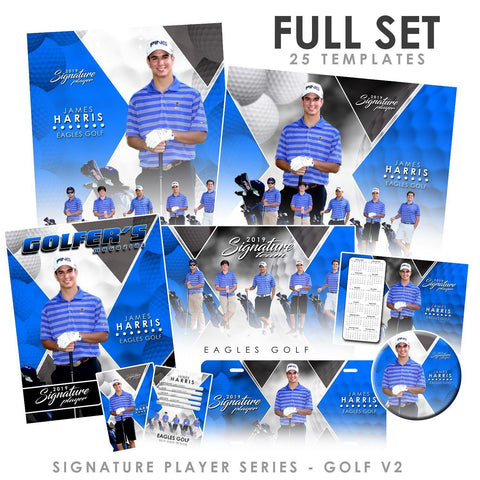 Signature Player - Golf - V2 - T&I Extraction Collection Downloadable Template Photo Solutions PSMGraphix