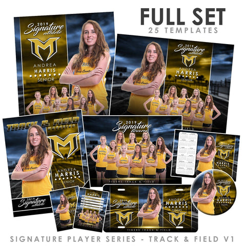Signature Player - Track & Field - V1 - T&I Extraction Collection Downloadable Template Photo Solutions PSMGraphix